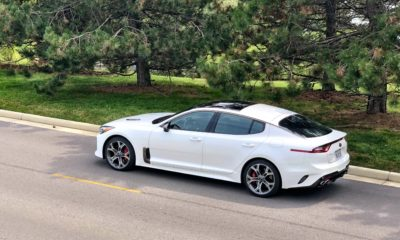 The Kia Stinger GT2 is available in RWD or AWD.