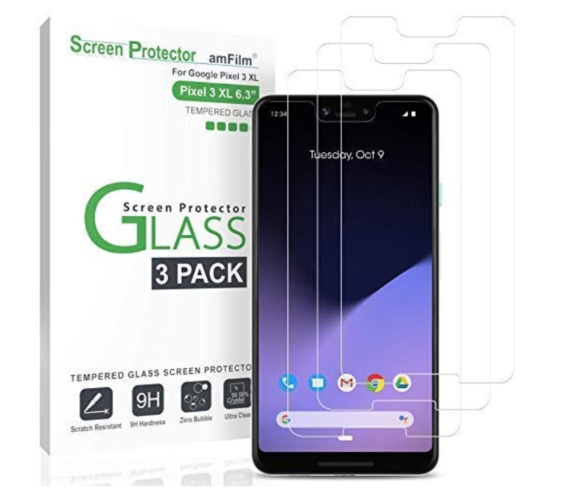amFilm Tempered Glass Screen Protector (3-Pack)