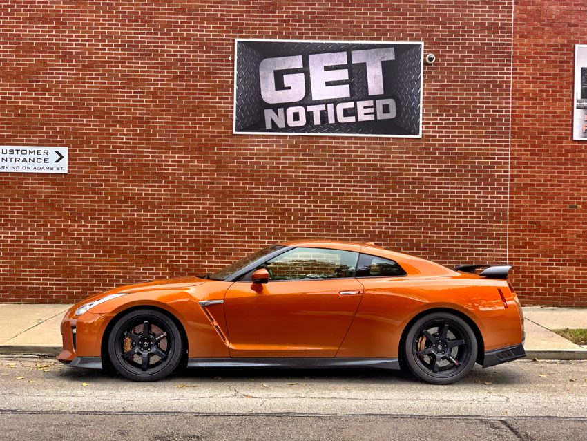 You'll definitely get noticed in the 2018 Nissan GT-R.