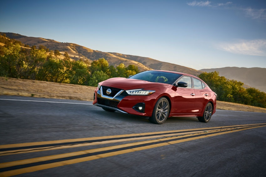 The 2109 Nissan Maxima features a sporty look and upgraded safety.
