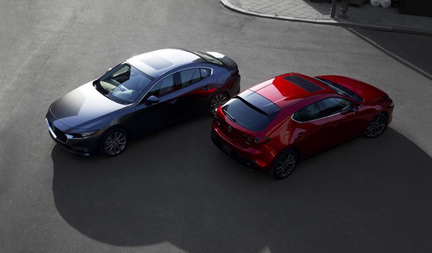 The all new 2019 Mazda 3.