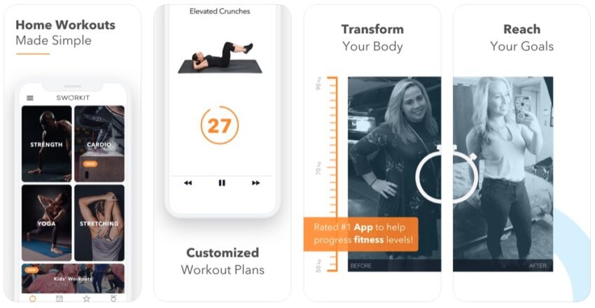 Home workout app to help you get in shape.