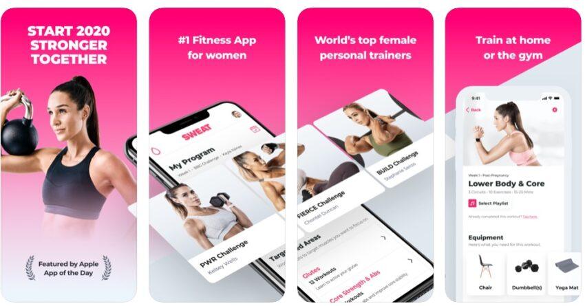 Sweat is the Kayla Itsines fitness app.