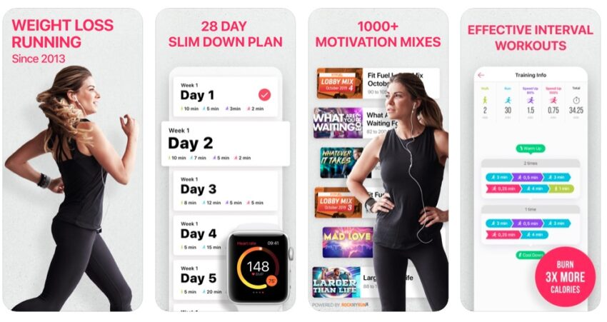 Start a 28 day slim down plan with this weight loss running app.