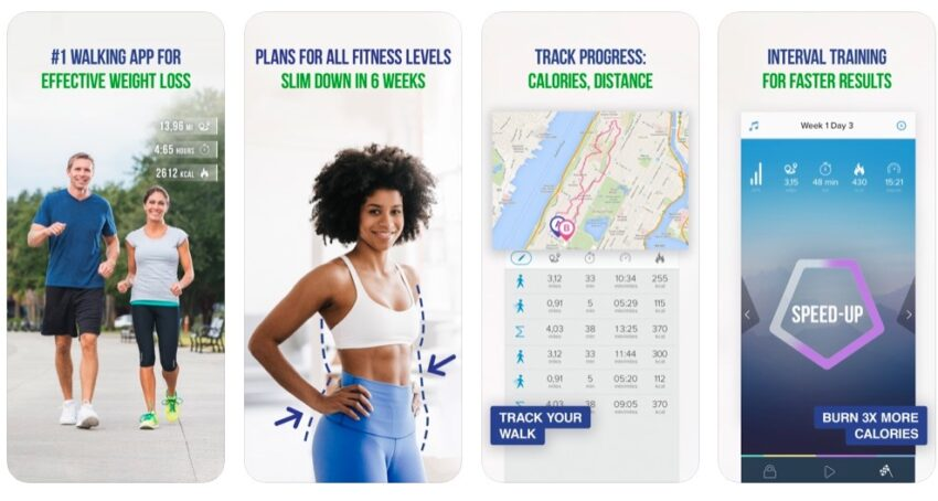 This workout app helps you lose weight by walking.