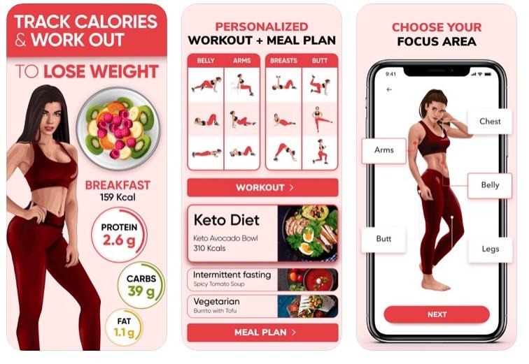 BetterMe Weight loss app screenshots