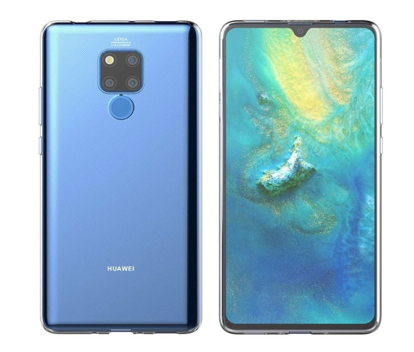 Mate 20 X Clear Shell Case