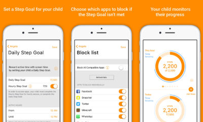 This parental control app gives kids an incentive to get off their apps and move.