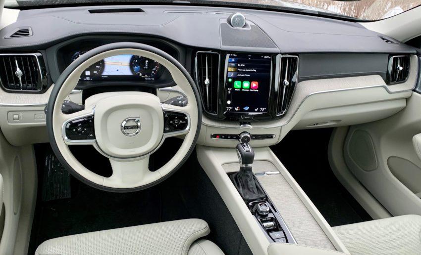 The XC60 interior is impressive.