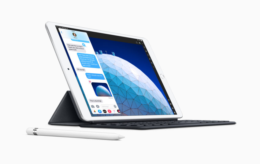 You can use the Apple Pencil, Logitech Crayon and Smart Keyboard with the iPad Air 3.
