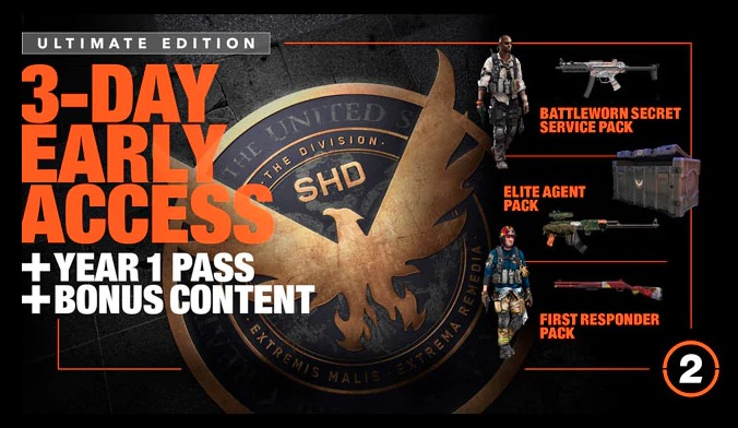 What do you get with The Division 2 Ultimate Edition.