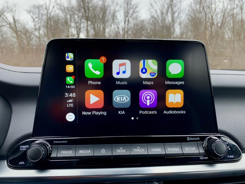 The standard system is easy to use, the touch screen is nice and it supports CarPlay and Android Auto.