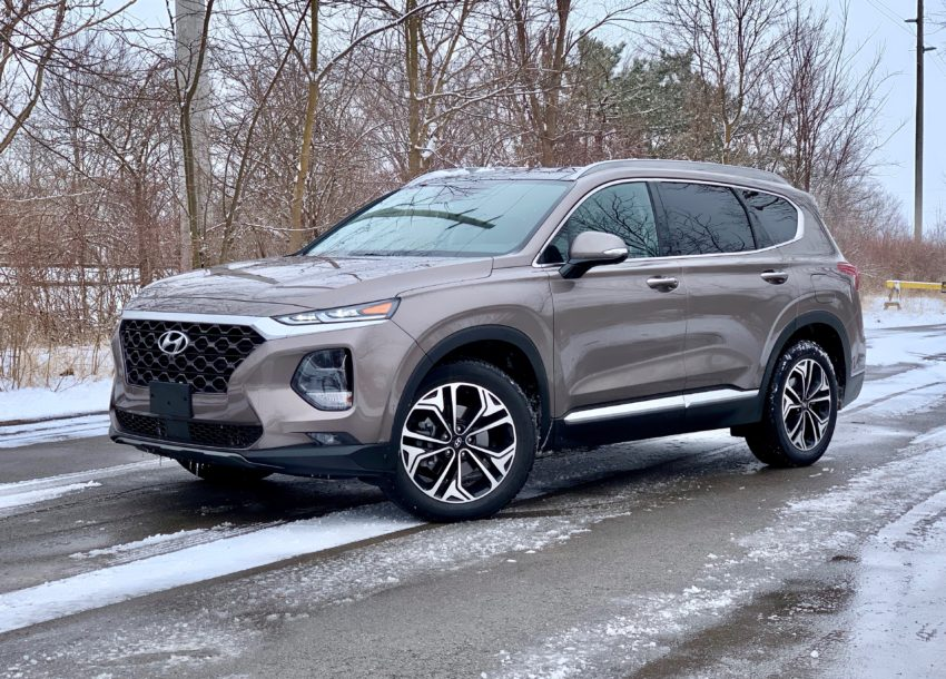 The 2019 Hyundai Santa Fe offers a comfortable ride.