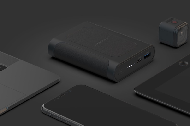 Charge your MacBook Air on the go with a portable battery with USB C PD.