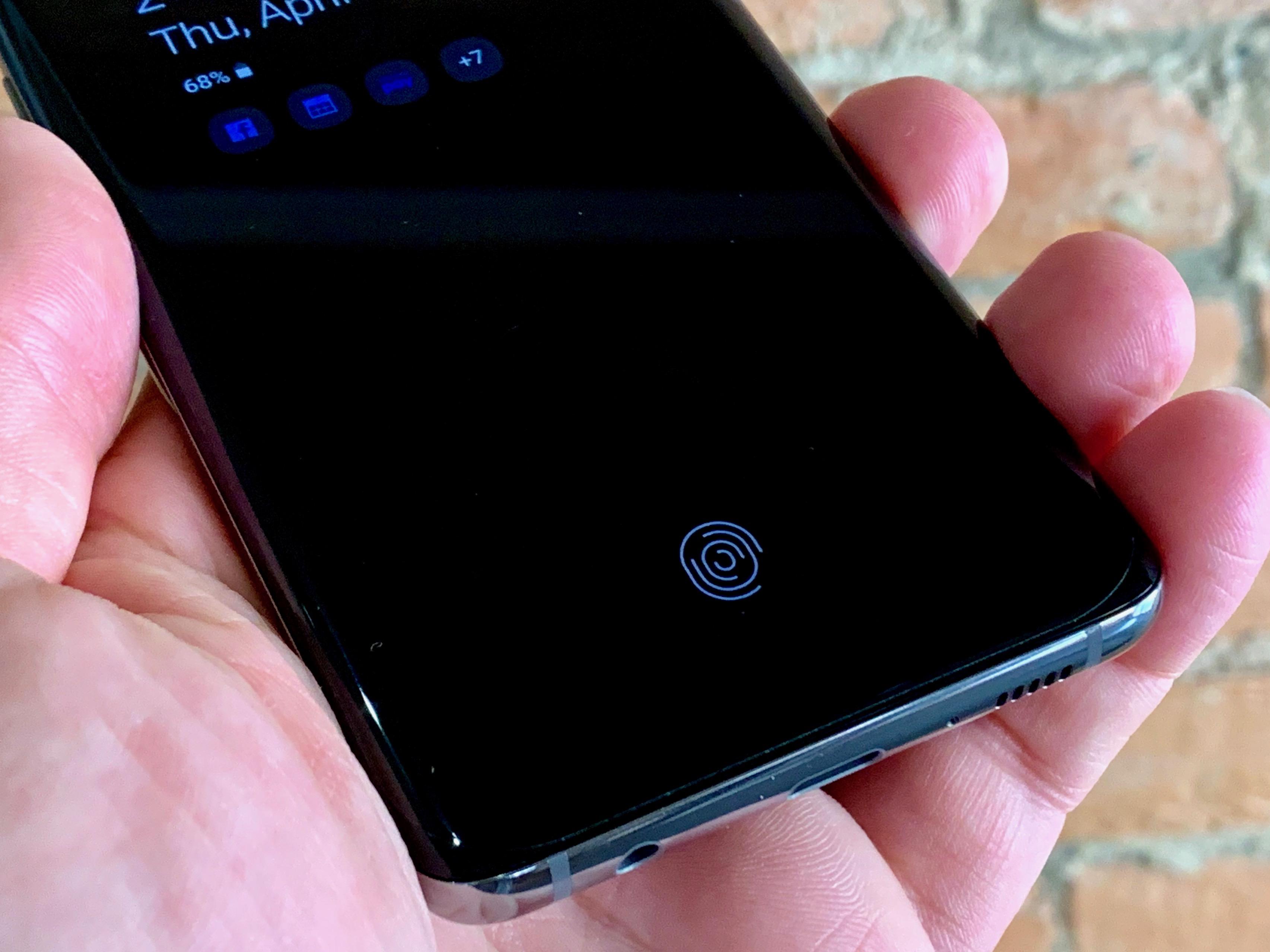 The under screen fingerprint reader is a cool feature.