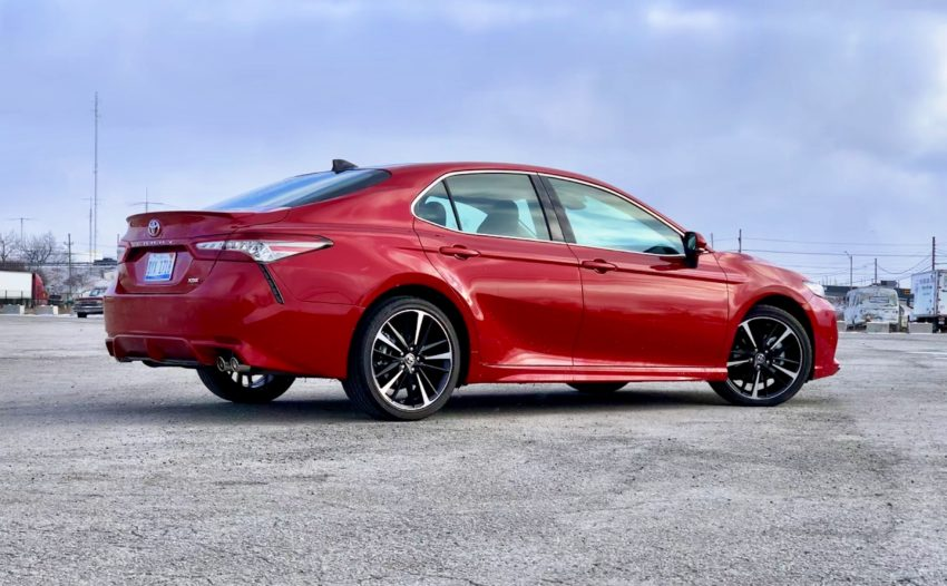 The 2019 Camry XSE is a sporty looking sedan with a nice interior.