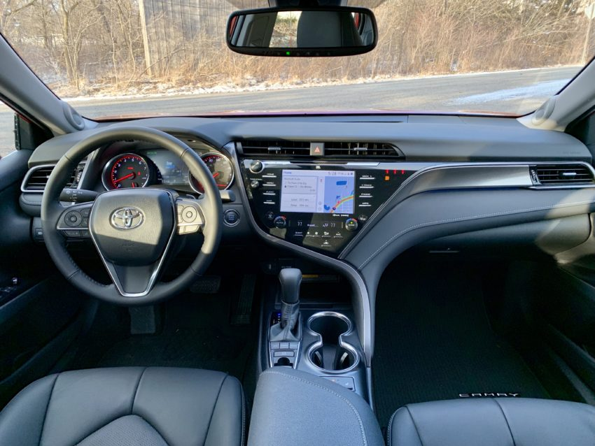 The leather interior makes the 2019 Camry XSE look and feel upscale.