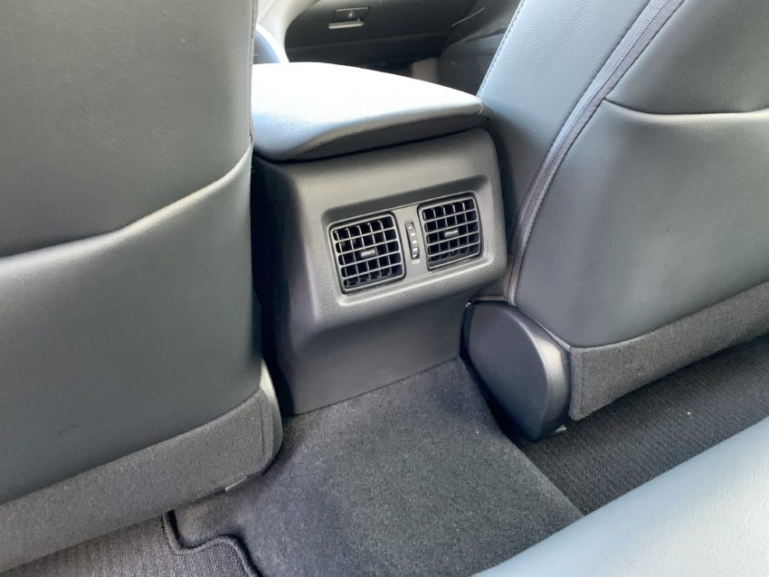We need a way to charge in the back seat.