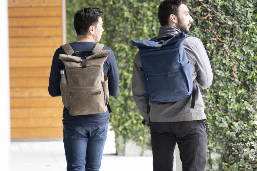 The WaterField Tech Rollup bag is versatile and includes an easy to access laptop compartment.