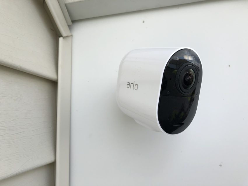 The Arlo Ultra looks nice and is weather resistant.