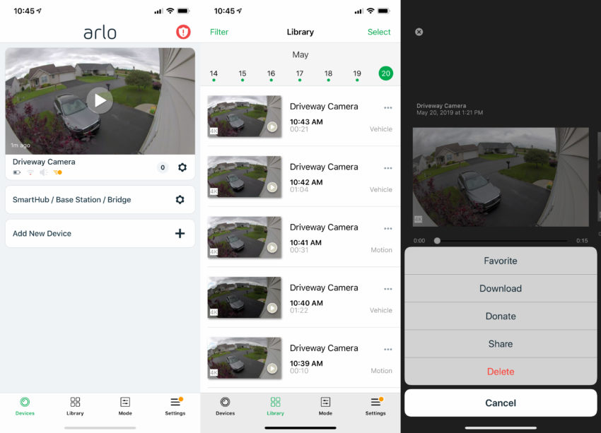 The Arlo app is easy to use and offers a lot of features.