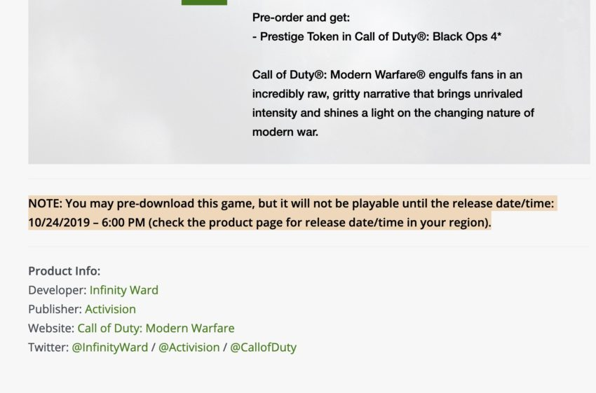 Pre-Order to Play Early & Pre-Load