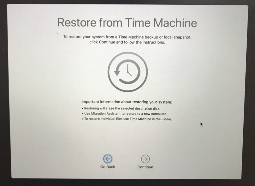 Restore your Time Machine Backup and you're good to go.
