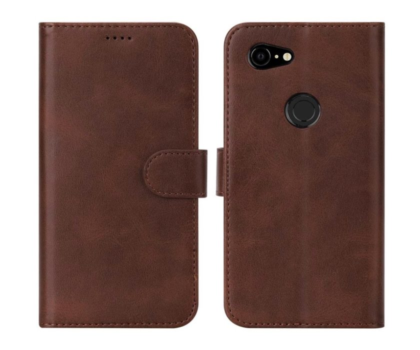 Flip Folio Leather Wallet Case for Pixel 3a