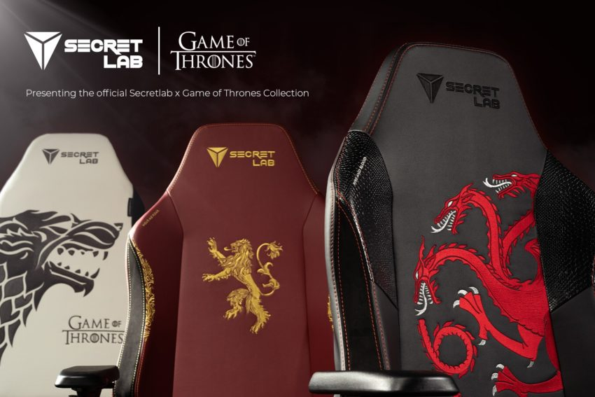 Get a limited edition Secretlab x Game of Thrones gaming chair.