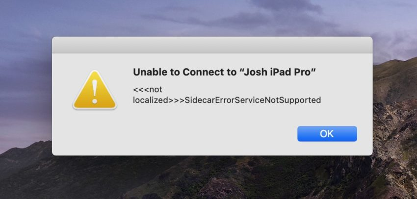 How to fix Side Car problems on the macOS Catalina beta.