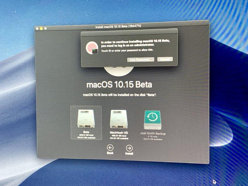 Install the macOS Catalina Beta.