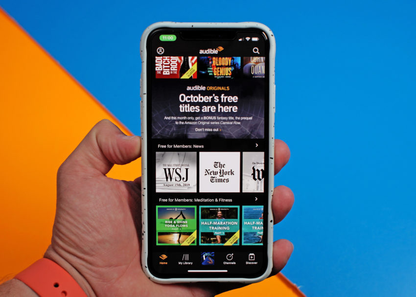 You get two free Audible Originals every month.