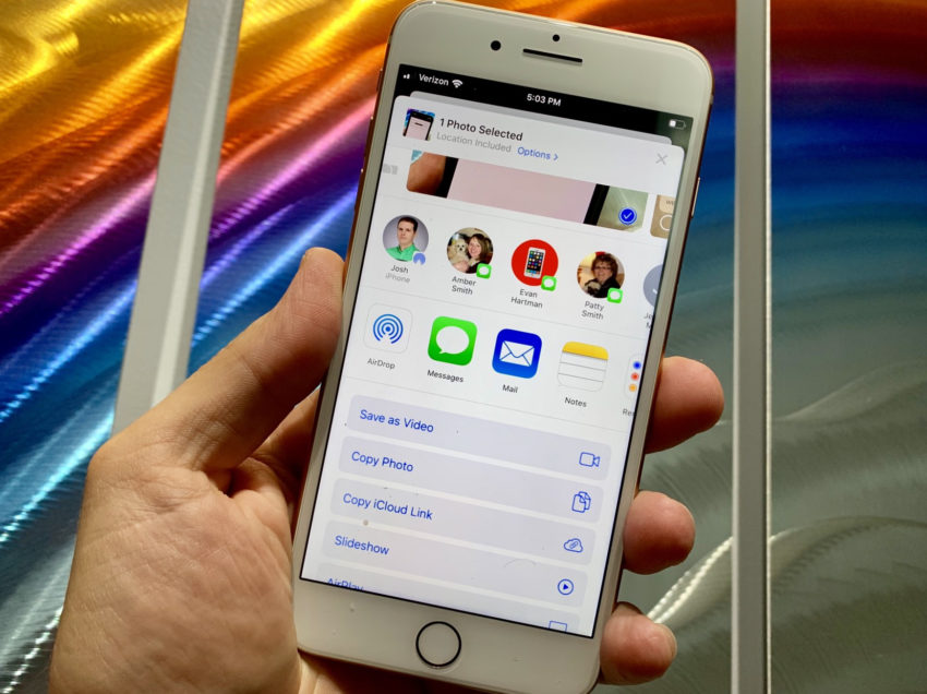 Install iOS 13 for the New Photo Sharing Options