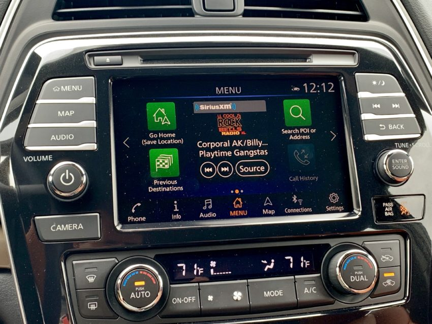 A large touchscreen is standard with Apple CarPlay and Android Auto.