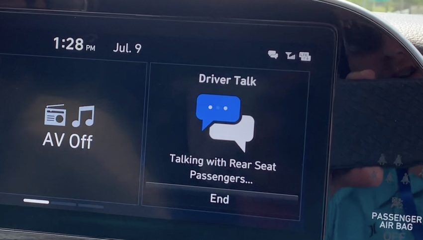 Talk to kids in the backseat without yelling with Driver Talk.