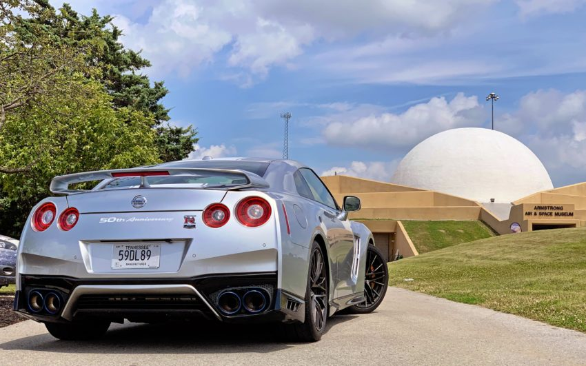 Road-tripping the 2020 Nissan GT-R 50th Anniversary to the Armstrong Air & Space Museum.