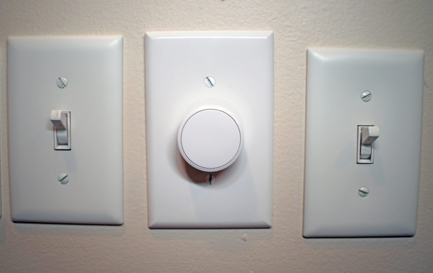 The Lutron Aurora is an awesome Hue light switch.