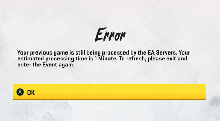 How to fix errors in Ultimate Team Challenges.
