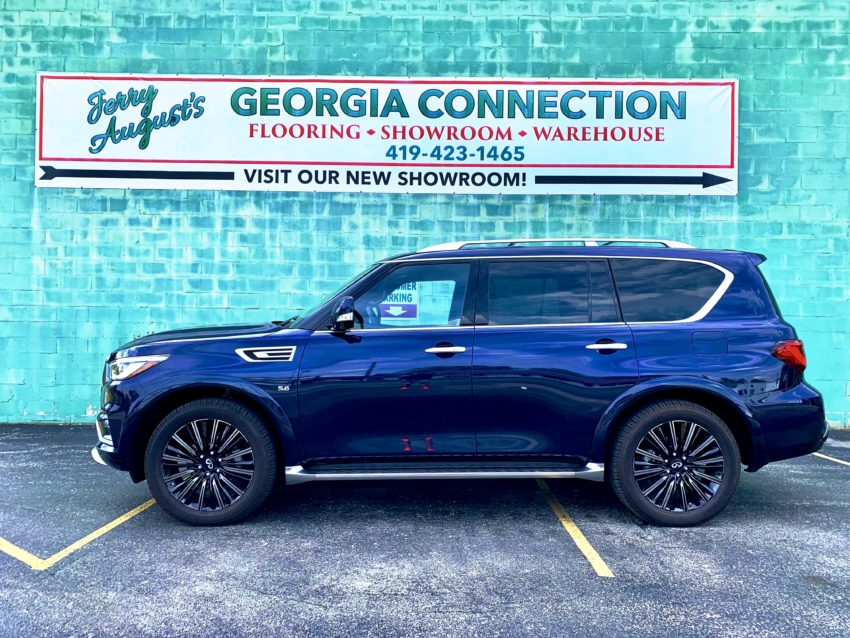 The 2019 Infiniti QX80 delivers big and bold styling.