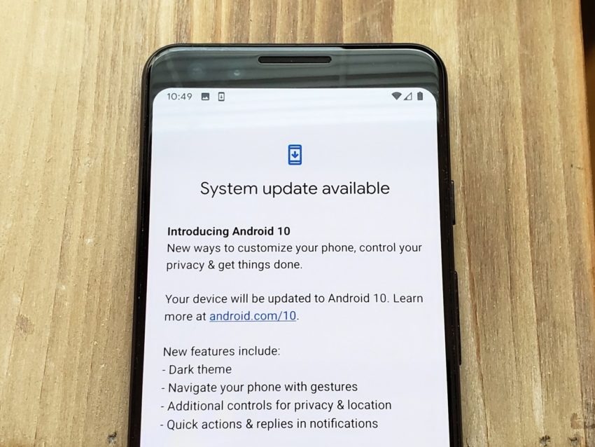 Pixel Android 10 Release Date