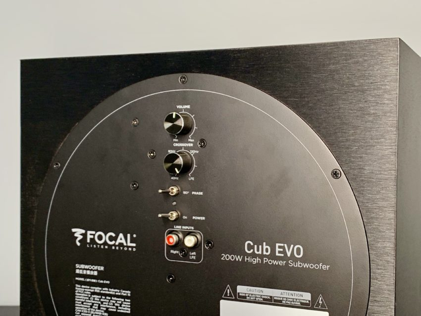 The Sib Evo system comes with a small, but powerful subwoofer.