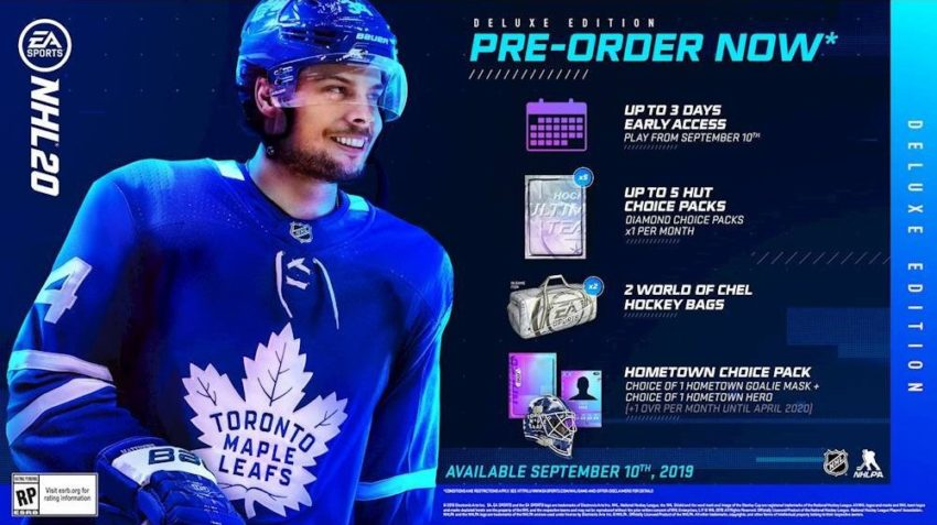 What you get with the NHL 20 Deluxe edition.