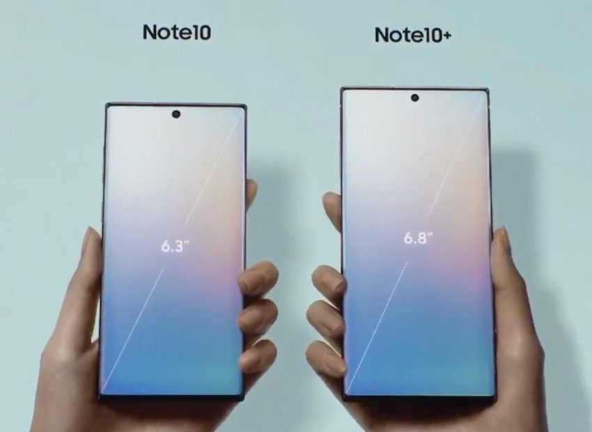Galaxy Note 10 vs Galaxy Note 10 Plus: Display
