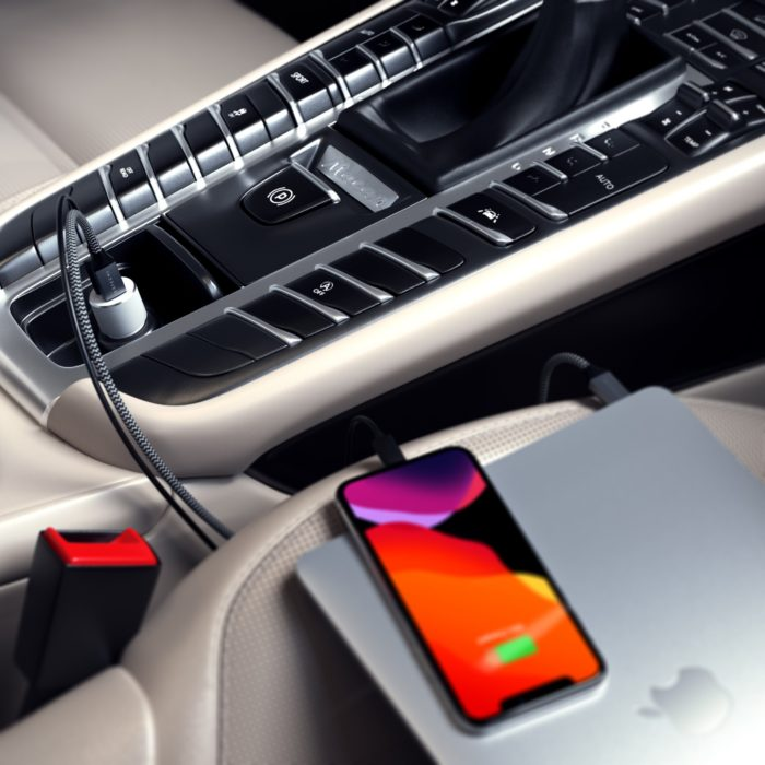 Charge your MacBook Pro in the car easily.