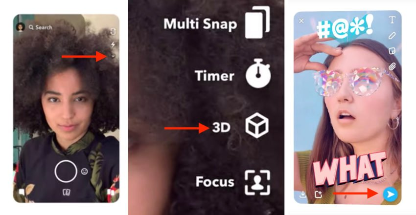 How to take a Snapchat 3D Selfie on your iPhone.