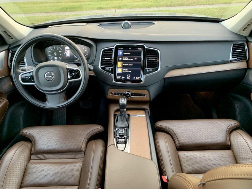 The beautiful XC90 interior.