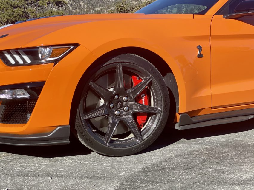 Beautiful, functional carbon fiber rims and Michelin Pilot Cup Sport 2 tires.