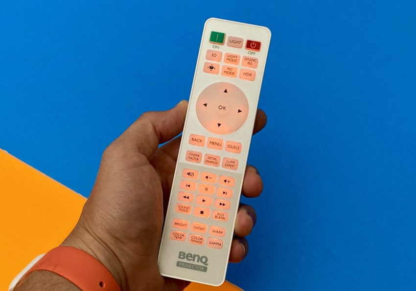 Everything you want from a projector remote.