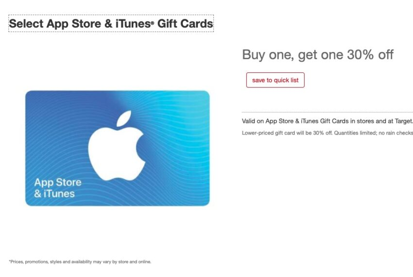 Expect iTunes Gift Card Black Friday Deals
