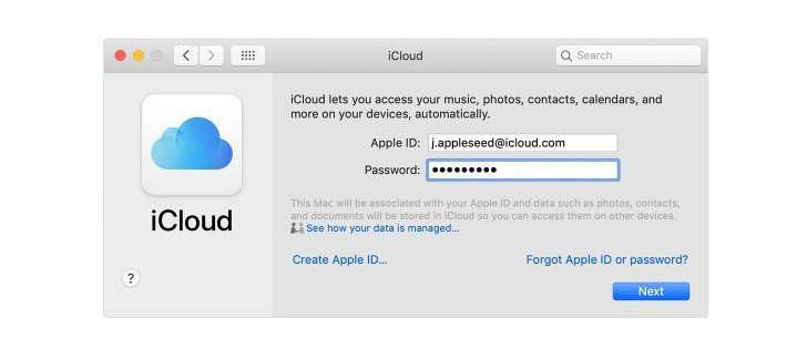 Log into iCloud on your Mac.
